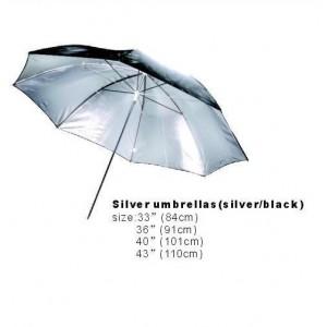 PRODIGY - SILVER UMBRELLA 84cm (BLACK/SILVER)